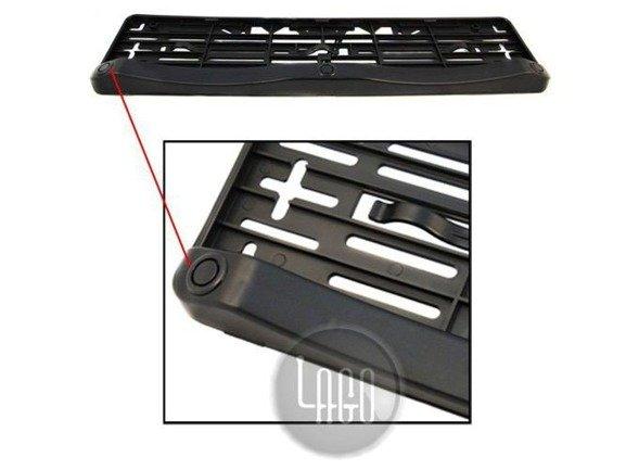 Czujniki cofania w ramce tablicy rejestracyjnej z bezprzewodowym wyświetlaczem LED