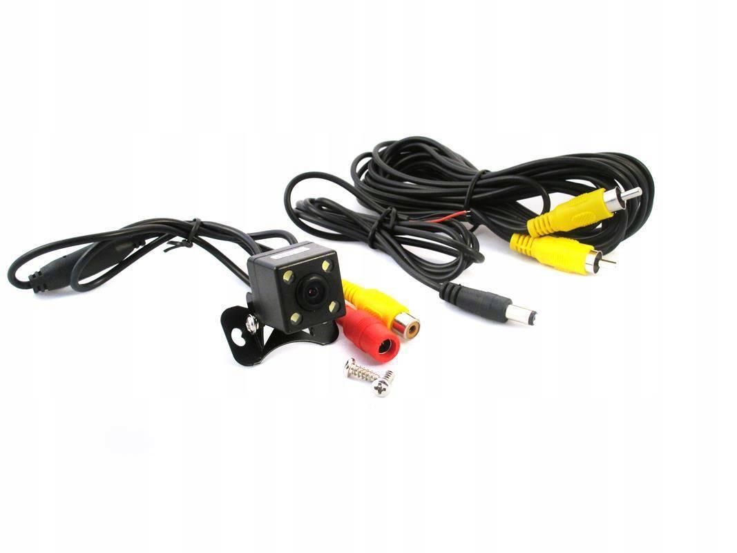 Kamera cofania parkowania mała 4 diody LED